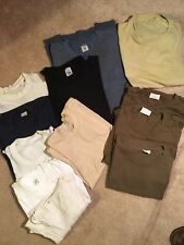 lot of 12 vintage 70s 80s 90s plain and pocket t shirts fruit of loom military