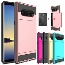 For Samsung Galaxy Note8 5  Phone Case Card Pocket Wallet Shockproof Armor Cover