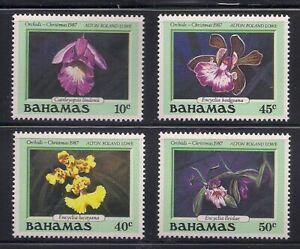 Bahamas   1987   Sc # 636-39   Orchids   MNH   (54102)