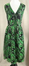 Modcloth Occasion Elation Lace Dress in Emerald XXL Floral A-line V-Neck