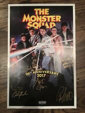 The Monster Squad 11x17 Authentic Cast Signed Poster Autographed With Quotes