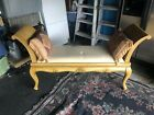 French Louis XVI Style Upholstered Window Bench Flower Patterns