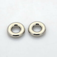 10x Stainless Steel Ring Spacer Beads Steel Color DIY Findings12x3.5mm Hole 5mm