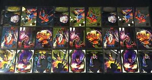 1995 FLEER ULTRA MARVEL X-MEN RAINBOW GOLD SILVER HUNTERS AND STALKERS YOU CHOSE