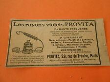 Pub Les Rayons violets PROVITA de haute fréquence Print 1928