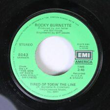Rock 45 Rocky Burnette - Tired Of Toein' The Line / Boogie Down In Mobile, Alaba