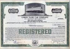 Union Tank Car Company Bond Stock Certificate