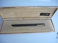 Penna a sfera Aurora THESI nero satinato con finiture in placcato laminato oro