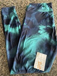 Lularoe blue teal tie-dye TC NWT leggings