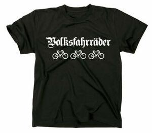 Volksfahrräder Fun Sprüche T-Shirt Gegen Faschismus Rassismus Nazis Sächsisch