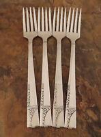 Oneida Caprice Set 4 Grille Forks Nobility Vintage Silverplate Flatware Lot C