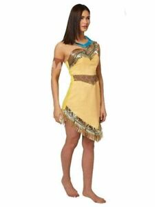 Pocahontas Deluxe Women's Disney Costume Adult Fancy Dress Up Outfit