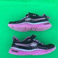 SKECHERS kid girl's fashion black running walking leather shoe size--12