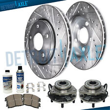 Front Wheel Bearings DRILLED Rotors Chevy GMC Sonoma S10 Blazer Jimmy 4WD