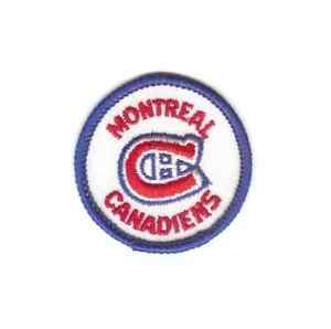 """MONTREAL CANADIENS 2"""" Embroidered Sew On Round Patch - Vintage~NHL"""