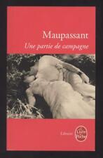 NEUF LIVRE UNE PARTIE DE CAMPAGNE MAUPASSANT littérature roman cinéma français
