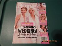 ELLEN DEGENERES & PORTIA DE ROSSI WEDDING PEOPLE MAGAZINE SEPT 2008 LESBIAN NEW