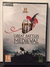 History: Great Battles Medieval - PC DVD - Brand new and factory sealed