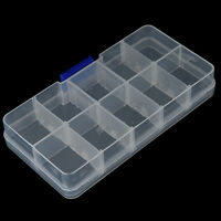10Compartimenti Fishing Fish Hook Bait Lure Box Tackle Storage Container Case SA