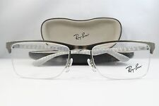 Ray-Ban RB 8413 2851 Gunmetal Semi-Rimless Authentic Eyeglasses 52mm w/case
