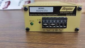 NEW Acopian W20FT370 Power Supply w/Din Rail Mounting Kit