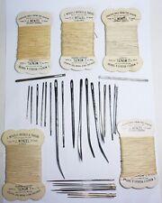 Vintage large Sewing Needles / Bodkins craft / leather J J & S -  Wenzel thread