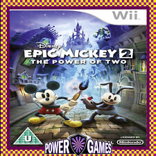 Disney Epic Mickey 2 The Power of Two (Nintendo Wii) Brand New