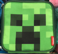 Thermos Minecraft School Soft Lunch Box Bag Tote Kit Boys Square Creeper Green