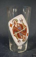 Spielkartenglas / Bierglas Karo Bube, um 1900.