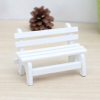 KE_ BL_ FX- Fairy Garden Bench Wooden Chair Doll House Miniature Furniture Orn