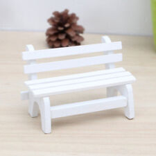 AU_ BL_ FX- Fairy Garden Bench Wooden Chair Doll House Miniature Furniture Ornam