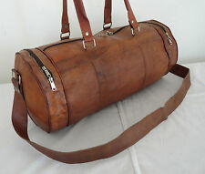 "21"" Handmade Real Leather Duffle Bag Sports Gym Bag Hold-All Luggage Handbag"