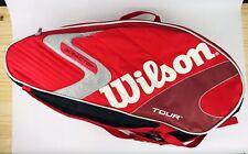 Wilson Tour (K) Factor 6 Pack Tennis Racket Bag Red Shulder Stap