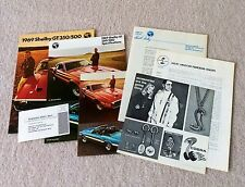 NOS Shelby Automotive originals 1969 Shelby GT-350/500 Mustang brochure & cards!