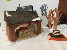 Dept 56 New England Village 1987 Maple Sugaring Shed 3 Piece 65897