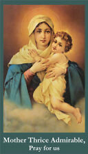 Mother Thrice Admirable Prayer Card (wallet size)
