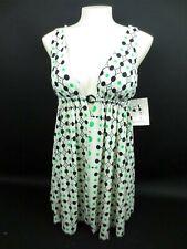 New PINK POLKA DOT by Sharise Neil Boho Mini Dress Tunic TOP Women's Size S