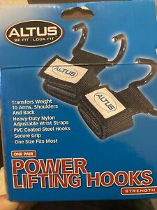 Altus One Pair Power Lifting Hooks Strength Open Box , New Never Used It