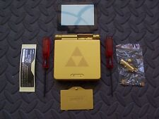 GBA SP Game Boy Advance SP Replacement Housing Shell  Gold Zelda Triforce