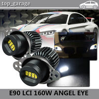 2009-2011 BMW E90 E91 LCI CREE XTE LED Angel Eyes Halo Ring Bulbs 80W Error Free