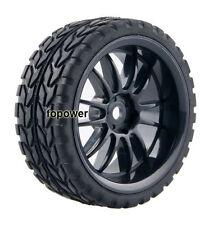 4pcs RC Flat Racing Tires Tyre Wheel Rim Fit HSP HPI 1:10 On-Road Car 6031-6017
