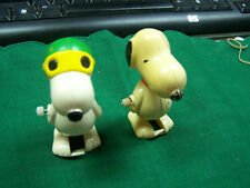 Peanuts Snoopy Wind Up Vintage Toys   Two pieces for one Bid    No Reserve!!