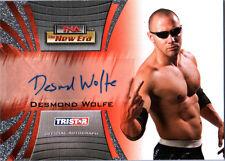 TNA Desmond Wolfe 2010 New Era SILVER Authentic Autograph Card
