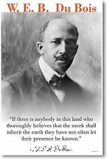 "WEB DuBois - ""If There Is Anybody In This Land..."" - NEW Famous Person POSTER"
