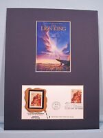 Walt Disney's - The Lion King and First Day Cover of its own stamp