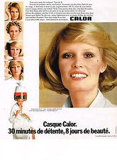PUBLICITE  1976     CALOR   casque cheveux