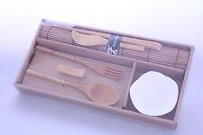 Japanese Wooden / Ceramic Bowl & Chopstick Dinner Set -- Bundle -- On Sale !
