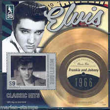 MUSTIQUE 2012 'ELVIS PRESLEY'  FRANKIE AND JOHNNY  RECORD SOUVENIR SHEET MINT NH