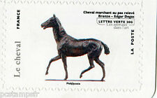 FRANCE 2013, timbre AUTOADHESIF lettre verte CHEVAL, ANIMAUX, HORSE, MNH STAMP