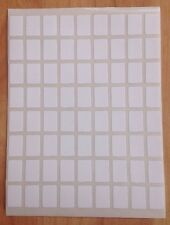 432 Small White Sticky Labels 8mm X 12mm Price Stickers,Tags,Blank,Self Adhesive